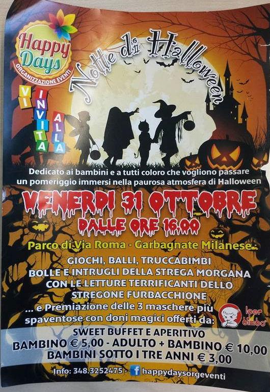 Festa Di Halloween A Roma.Festa Di Halloween Al Parco Di Via Roma Garben Tv